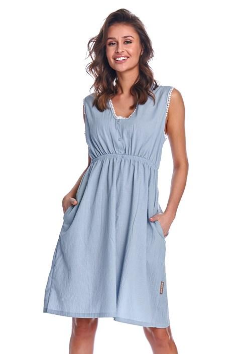 Doctor Nap Mateřská kojicí košilka Corrine Blue světlemodrá XL