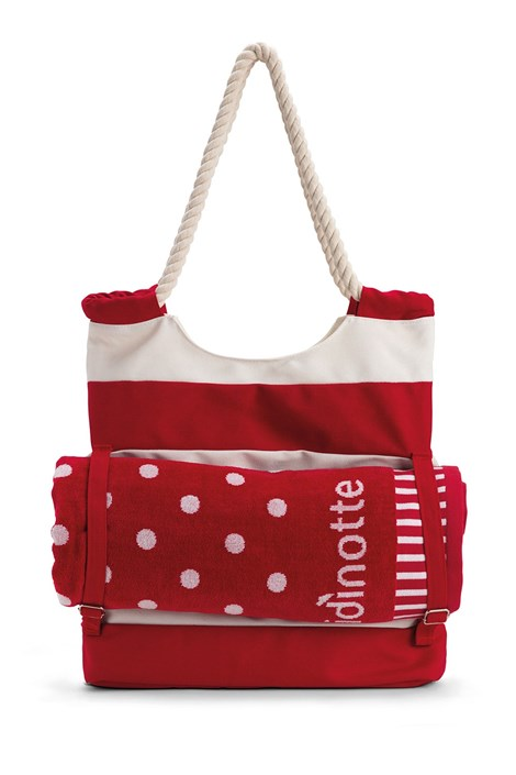 Noidinotte Velká plážová taška TR215 červenobílá uni