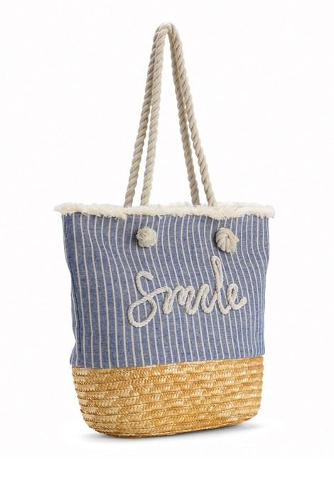 Noidinotte Plážová taška Smile modrá uni