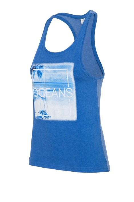 4F Dámské tílko 4f Oceans Blue modrá L
