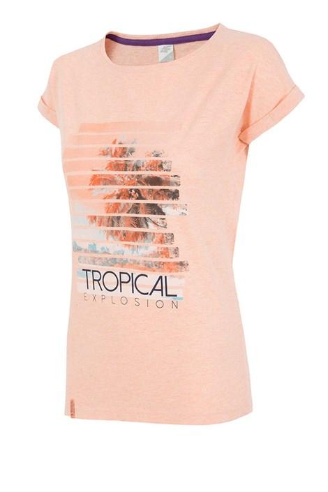 4F Dámské sportovní tričko 4f Tropical Coral coral L