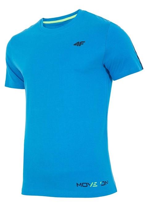 4F Pánské tričko 4F Move 100% bavlna světlemodrá S