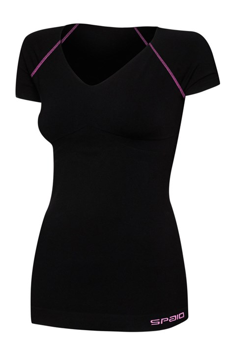 Spaio Dámské sportovní triko Fitness černá L/XL
