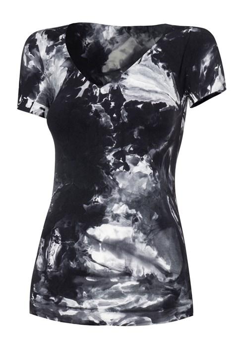 Spaio Dámské sportovní triko Fitness černobílá S/M