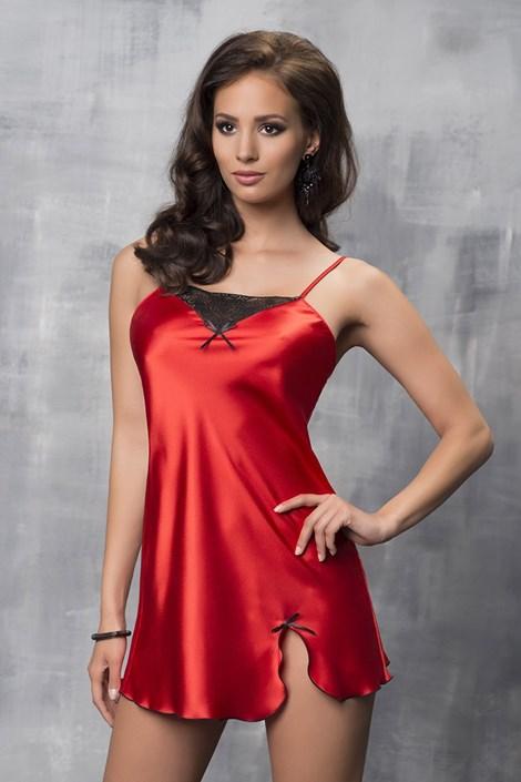 Irall Luxusní saténová košilka Tare Red červená M