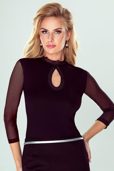 Eldar Dámské elegantní tričko Tatiana černá L