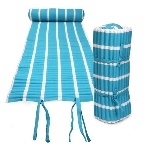 Le Comptoir De La Plage Plážová matrace Texty tyrkysová tyrkysova 60x180