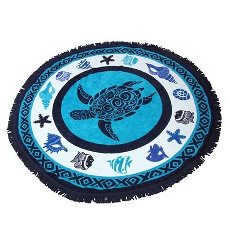 Le Comptoir De La Plage Plážová deka 2v1 Tortuga modra 150