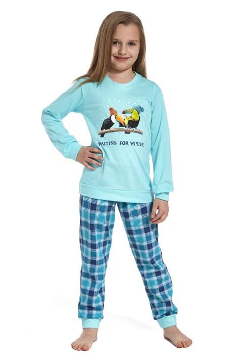 Cornette Dívčí pyžamo Toucan modrá 98/104