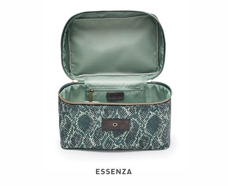 Essenza Home Kosmetický kufřík Essenza Tracy Solan zelený zelená kosmetická taštička