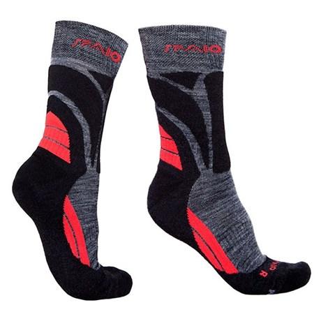 Spaio Ponožky Thermo line merino černočervená 44-46