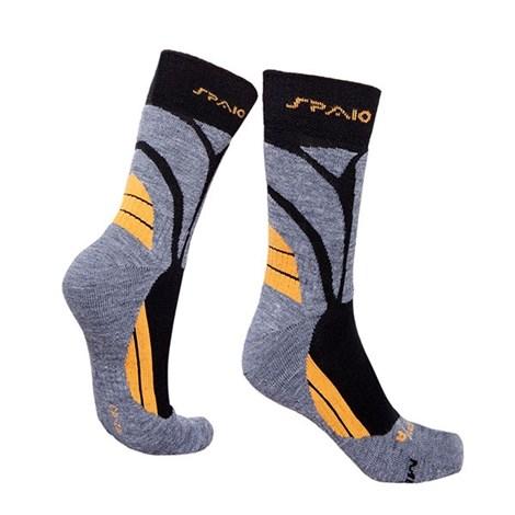Spaio Ponožky Thermo line merino šedožlutá 41-43