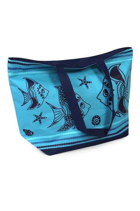 Le Comptoir De La Plage Plážová taška Tropical Fish tyrkysová uni