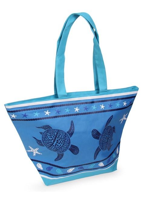 Le Comptoir De La Plage Plážová taška Tropical Turtle modrá uni