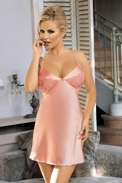 Excellent Beauty Luxusní košilka Temptation růžová L/XL