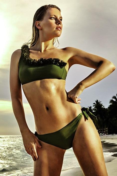 Vacanze Dámské dvoudílné plavky Miranda khaki 38