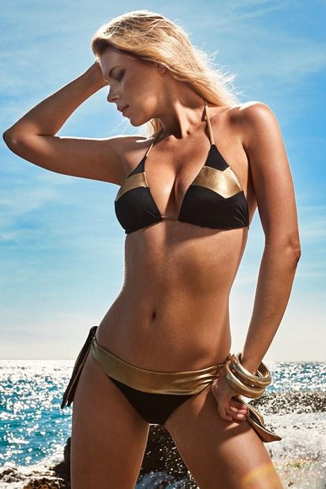 Vacanze Dámské dvoudílné plavky Alana černozlatá 40
