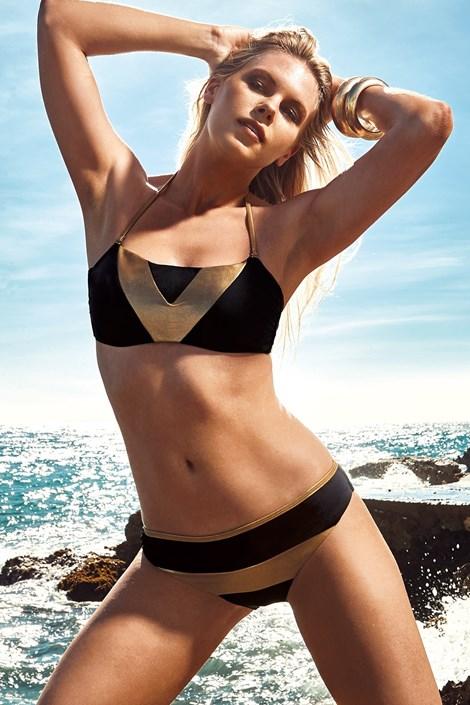 Vacanze Dámské dvoudílné plavky Amalia černozlatá 36