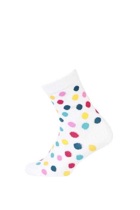 Wola Dětské hladké ponožky barevné puntíky barevná 30-32