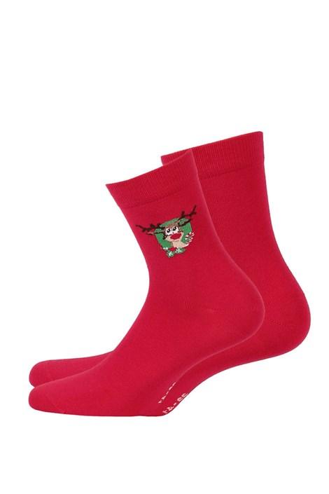 Wola Dětské vzorované ponožky 993 červená 33-35