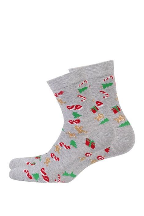 Wola Dětské vzorované ponožky 999 šedá 27-29