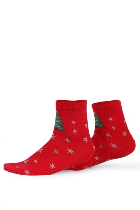 Wola Dámské vzorované ponožky 985 červená 36-38