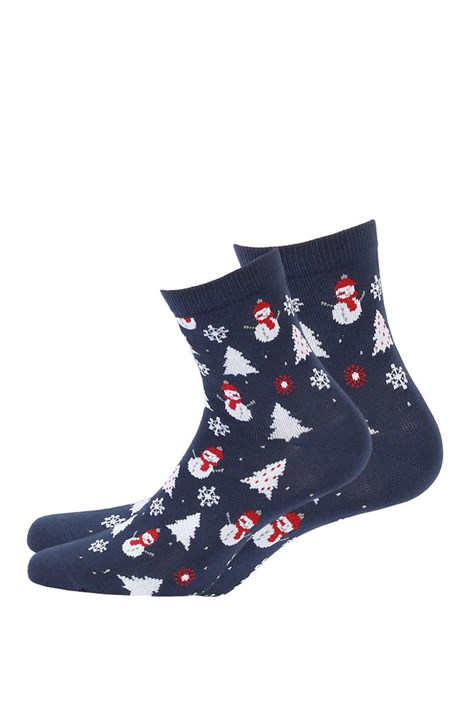 Wola Dámské vzorované ponožky 986 modrá 36-38