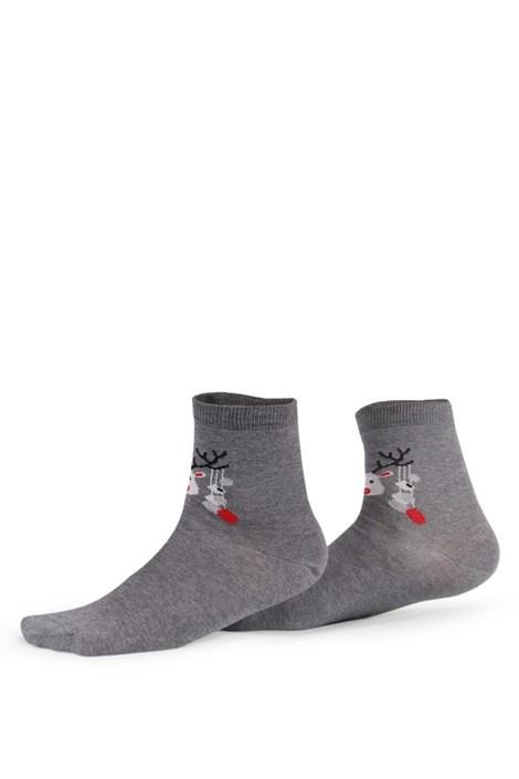 Wola Dámské vzorované ponožky 989 šedá 39-41