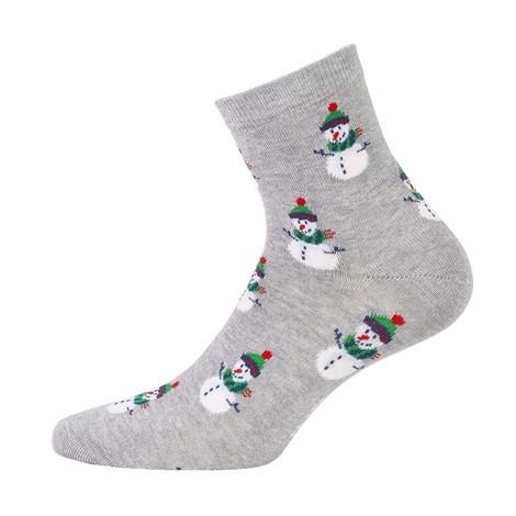 Wola Dámské vzorované ponožky 991 šedá 39-41