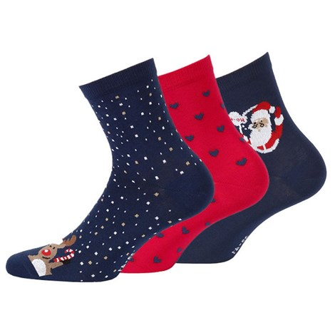 Wola 3 pack dámských vzorovaných ponožek 998 barevná 39-41