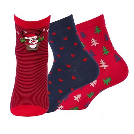 Wola 3 pack dámských vzorovaných ponožek 999 barevná 39-41