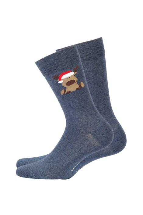 Wola Pánské vzorované ponožky 973 modrošedá 45-47