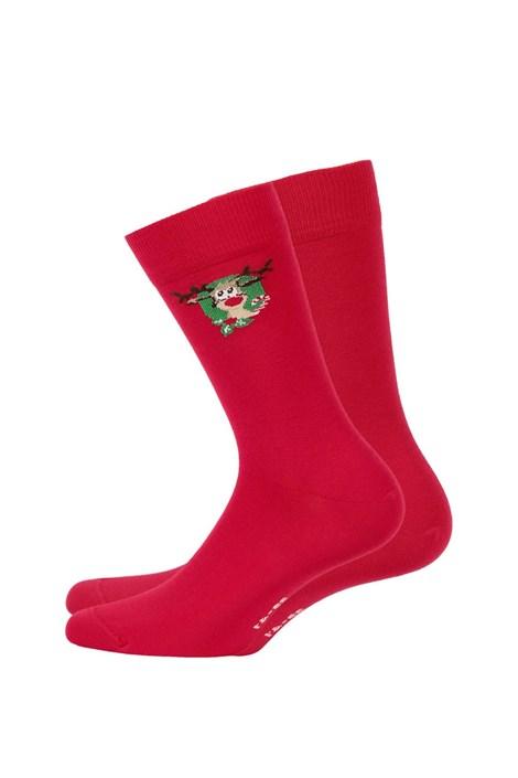Wola Pánské vzorované ponožky 993 červená 42/44