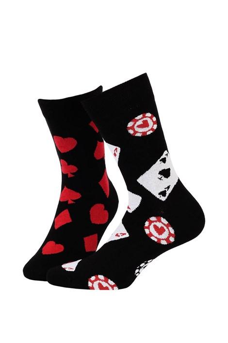 Wola Pánské ponožky vzorované 051 černočervená 43-46