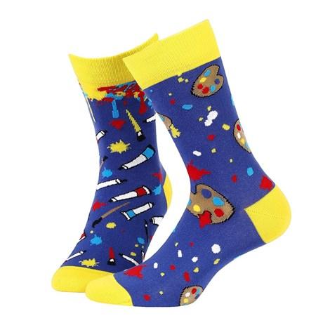 Wola Unisex ponožky vzorované 055 modrožlutá 35-38