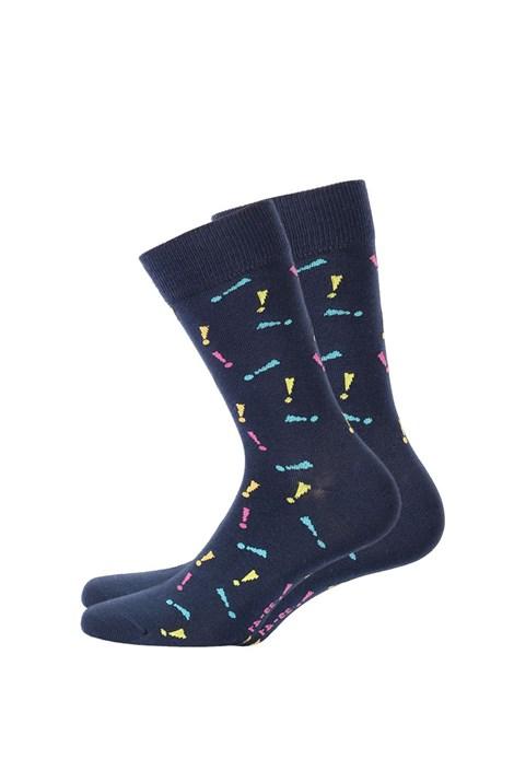 Wola Pánské vzorované ponožky 570 modrá 42-44