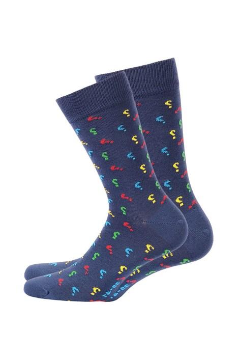Wola Pánské ponožky vzorované 571 modrá 42-44