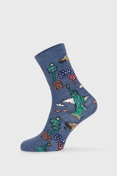 John Frank Dámské ponožky Fun New York barevná 36-40