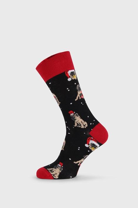 Дамски коледни чорапи Pug