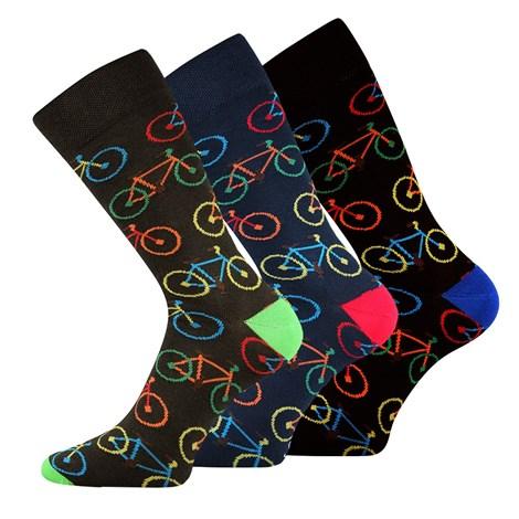 Lonka 3 pack ponožek Bike barevná 43-46