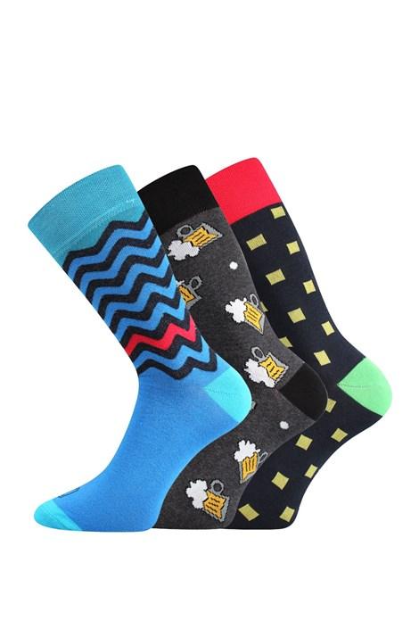 Lonka 3 pack pánských ponožek Tod barevná 43-46