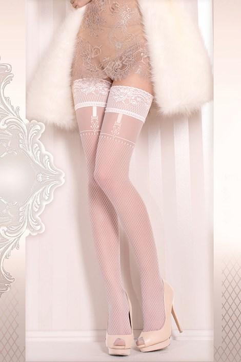 Luxusní samodržící punčochy Wedding 374