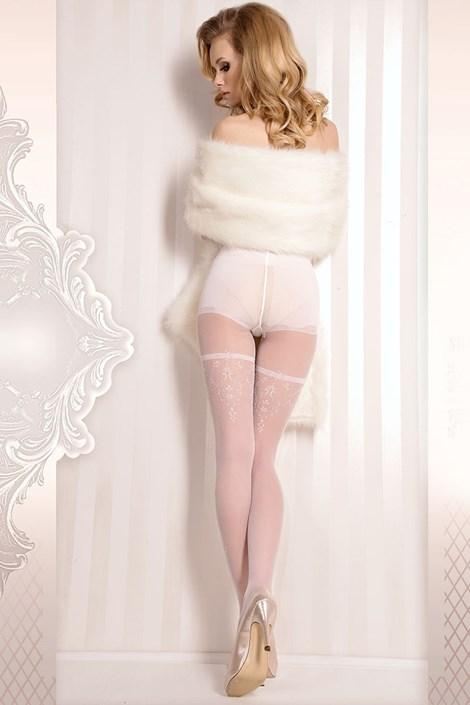 Ballerina Luxusní punčochové kalhoty Wedding 376 bílá S/M