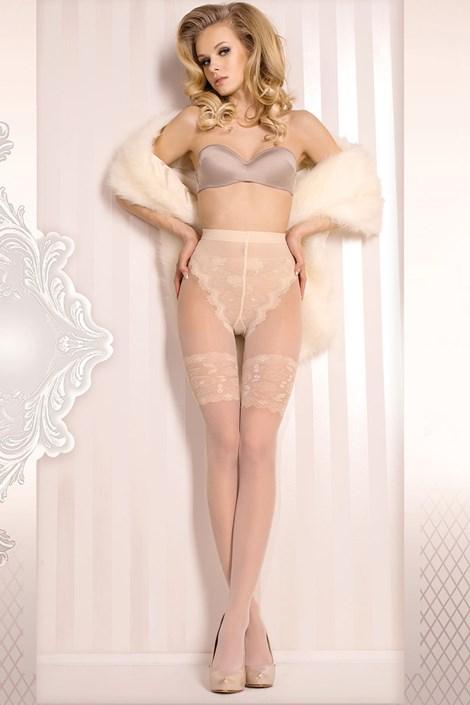 Ballerina Luxusní punčochové kalhoty Wedding 377 ivory L/XL