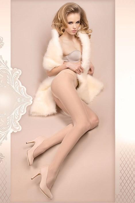 Ballerina Luxusní punčochové kalhoty Wedding 380 bílá L/XL