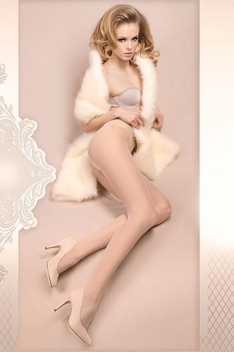 Ballerina Luxusní punčochové kalhoty Wedding 380 ivory S/M