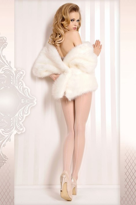 Ballerina Luxusní punčochové kalhoty Wedding 381 bílá S/M