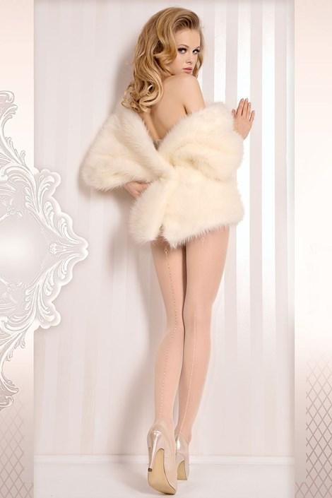 Ballerina Luxusní punčochové kalhoty Wedding 381 ivory L/XL