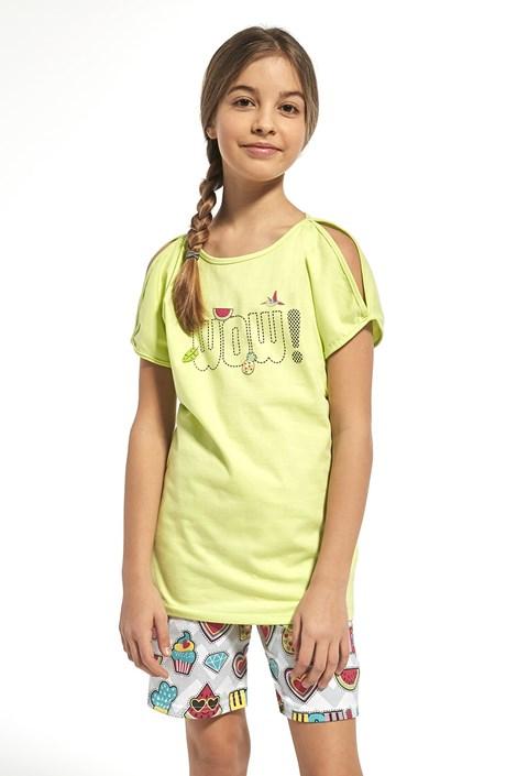 Cornette Dívčí pyžamo Wow zelená 158/164