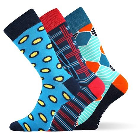 Lonka 3pack módních ponožek Woodoo MixE barevná 43-46